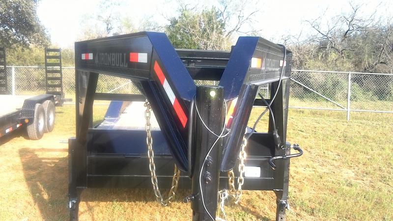 2019 Iron Bull 102X24 Gooseneck Lowboy Utility Trailer