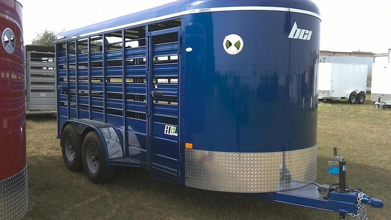2019 BCI Trailers 6X16 Heavy Duty Livestock Trailer
