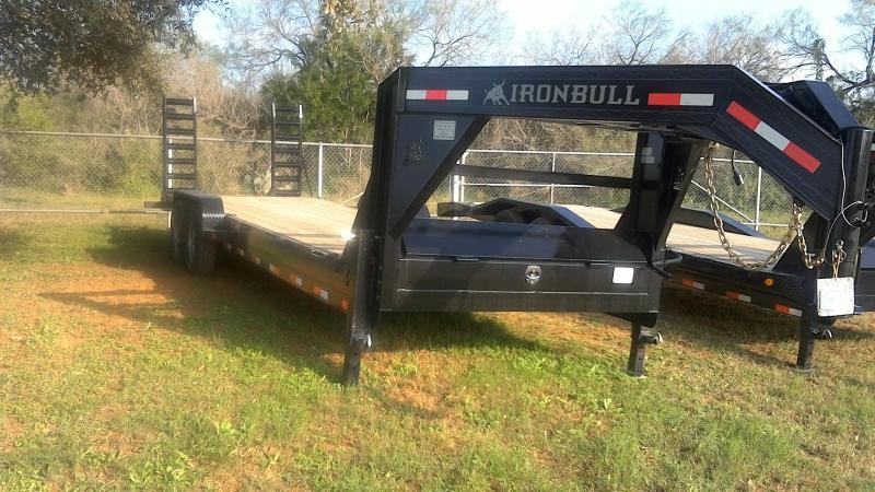 2019 Iron Bull 83X26 Gooseneck Lowboy Utility Trailer