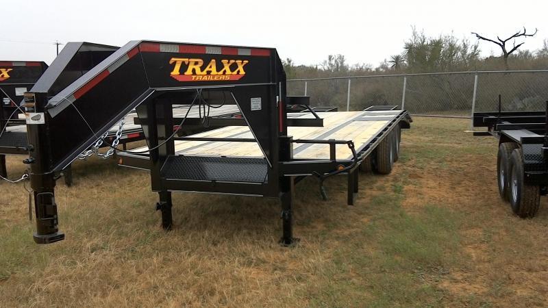 2019 Traxx 102X205 TA Daul Gosseneck Equipment Trailer