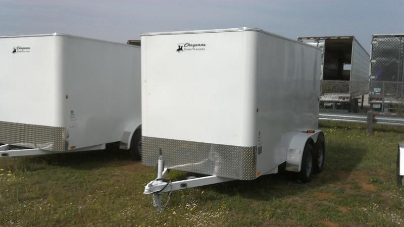 2019 Cheyenne 6X12 Tandem All Steel Enclosed Cargo Trailer