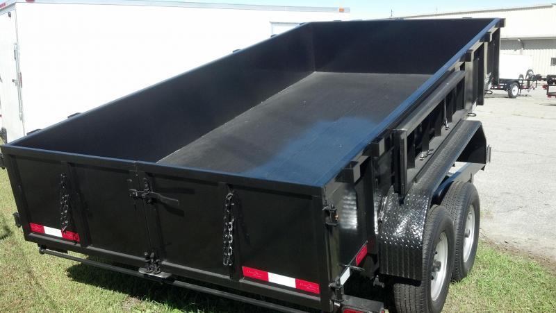 """2020 Down 2 Earth Trailers D2E 6x12 10K Dump Equipment Trailer W/ 24"""" Sides"""
