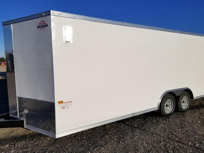 Rock Solid Cargo 8.5X20 Enclosed Cargo Trailer 5200 Axles- In Stock