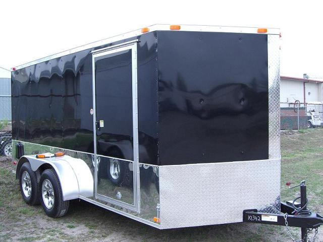 7x14 TVRM Enclosed Motorcycle Trailer