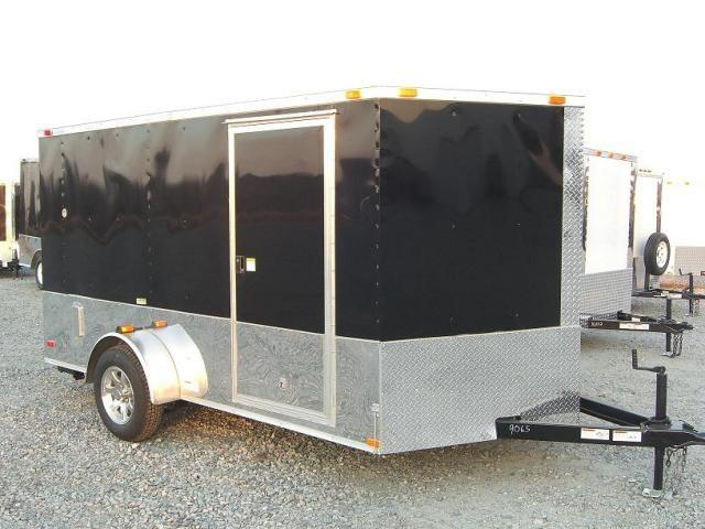 6X12 SVRM Enclosed Motorcycle Trailer W/ .030 Color