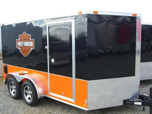 7x14 TVRH Harley Enclosed Cargo Trailer
