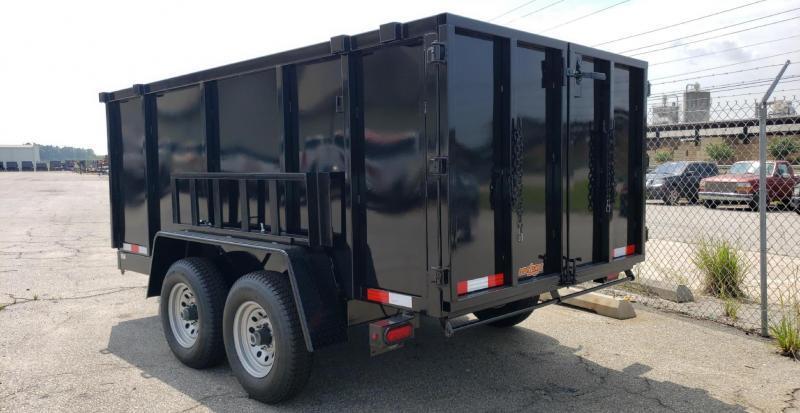 """2020 Down 2 Earth Trailers D2E 6x12 10K Dump Equipment Trailer W/ 48"""" Sides"""