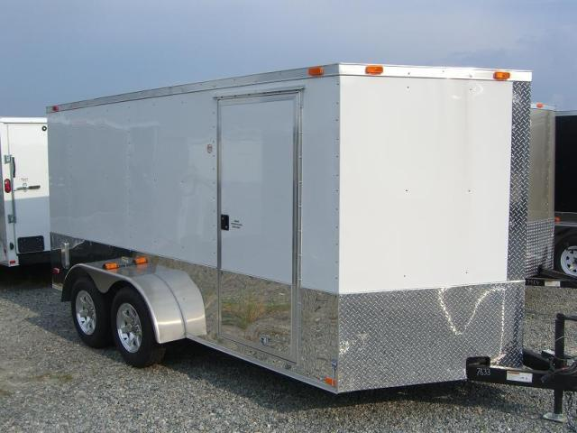 7X16 Enclosed Motorcycle Trailer V Nose