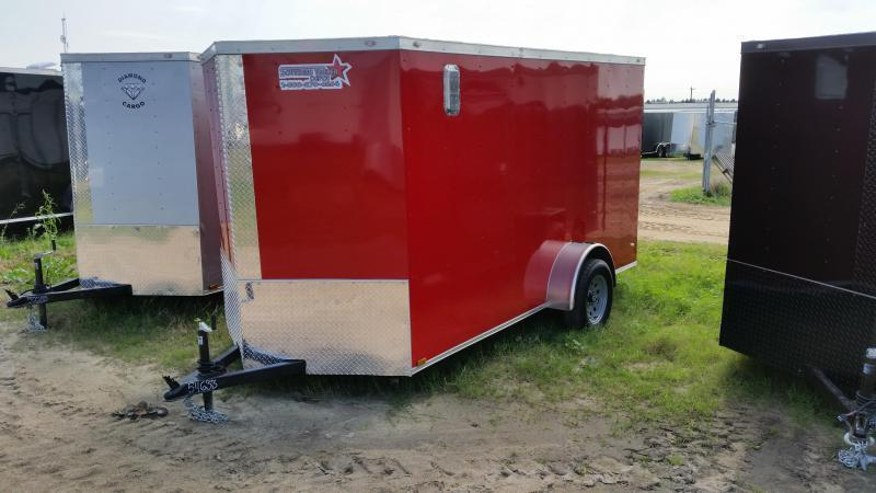 New 6x12 RED Single Axle Enclosed Cargo Trailer in Ashburn, VA