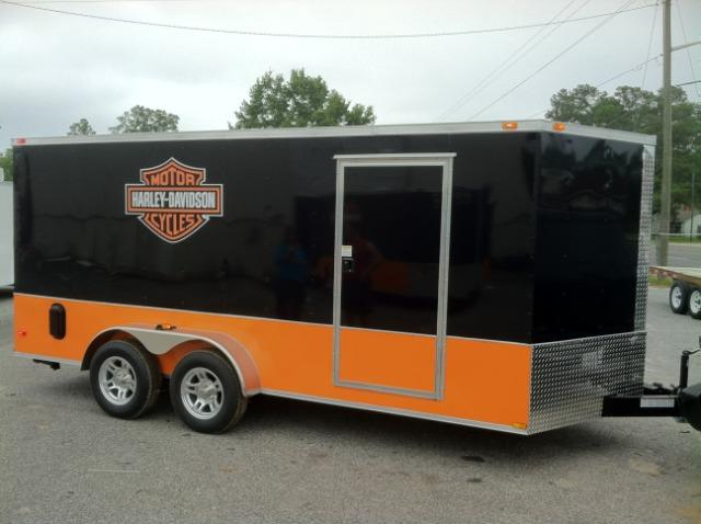 Diamond Cargo 7x16 TVRH Enclosed Harley Trailer in Ashburn, VA