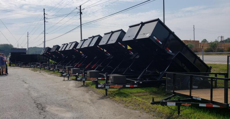 "2020 Down 2 Earth Trailers D2E 6x12 Dump Equipment Trailer W/ 24"" Sides & Loading Ramps"