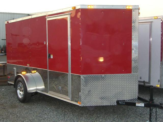 Diamond Cargo 6X12 SVRM Enclosed Motorcycle Trailer With .030 COLOR