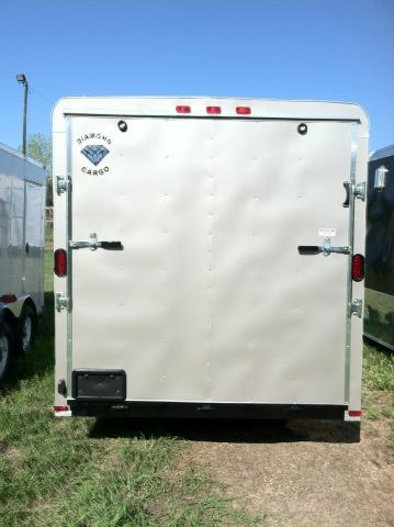 Diamond Cargo 7X14 TR Enclosed Cargo Trailer 6'8 Int.