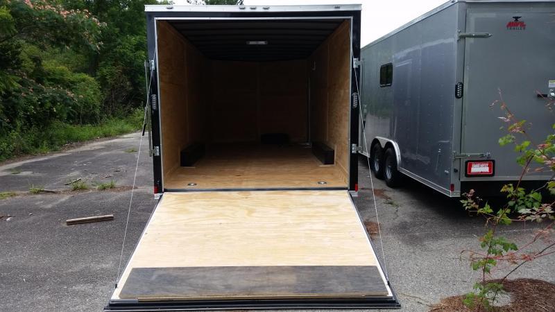 NEW 8.5x20 BLACK Enclosed Cargo Trailer