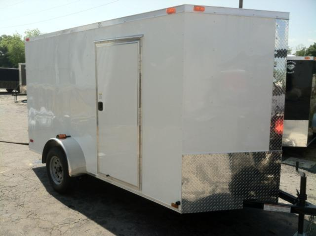 Diamond Cargo 6x12 SVR White Enclosed Cargo Trailer in Ashburn, VA