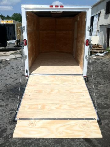 Diamond Cargo 6x12 SVR White Enclosed Cargo Trailer