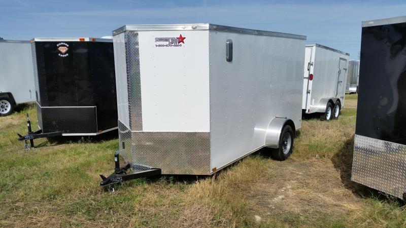 New 6x12 WHITE Single Axle Enclosed Cargo Trailer in Ashburn, VA