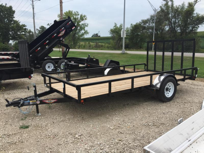 2019 H and H Trailer 82X14 STEEL RAIL SIDE 5K