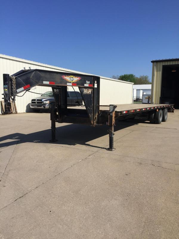 2015 H and H Trailer 255 GN 20K Equipment Trailer