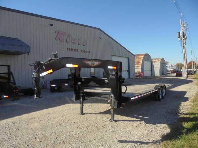 2017 H and H Trailer 8.5x28 EX Speedloader Flatbed Trailer