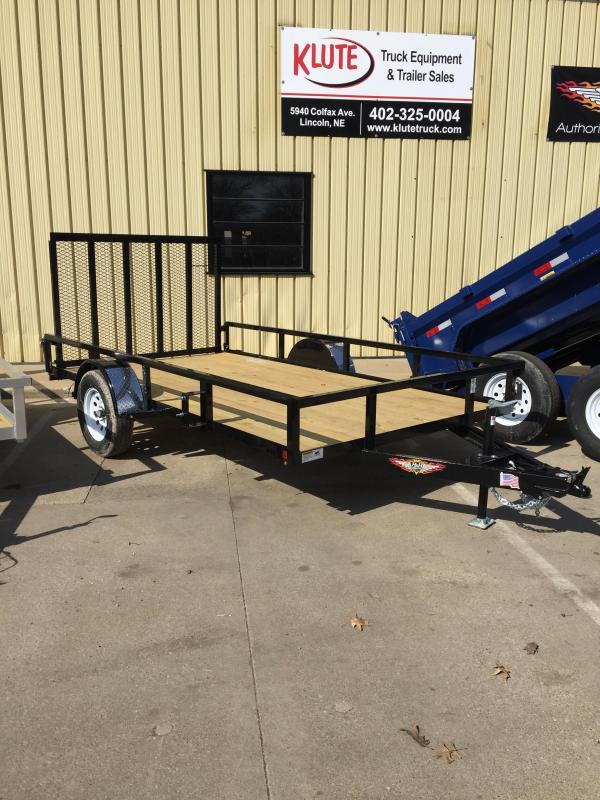 2019 H and H Trailer 76X12 STEEL RAIL SIDE 3.5K