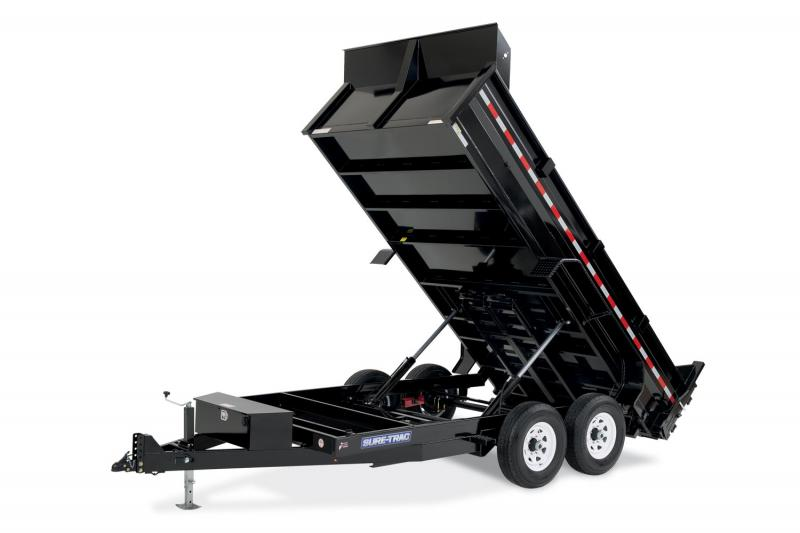 2019 Sure-Trac 82x12 12K HD Low Profile Dump (Dual Ram) Dump Trailer