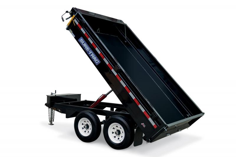 2018 Sure-Trac 6 X 10 7K SD Deckover Dump Trailer
