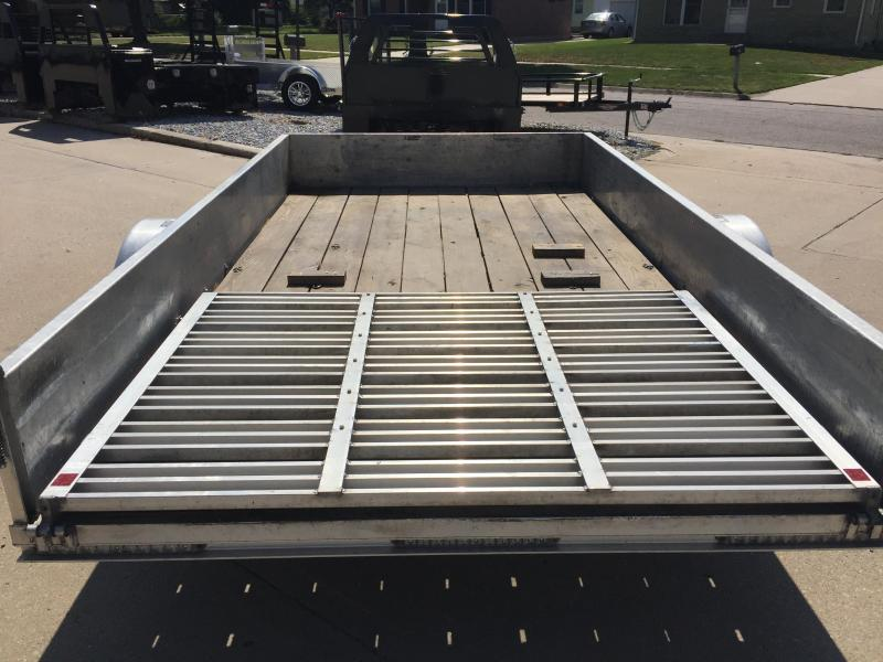 2012 H and H Trailer 76x12 SOLID SIDE ALUMINUM Utility Trailer
