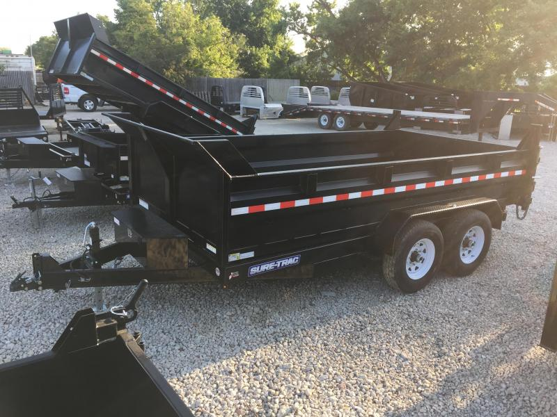 2019 Sure-Trac 82x14 14K HD Low Profile Dump (Dual Ram) Dump Trailer