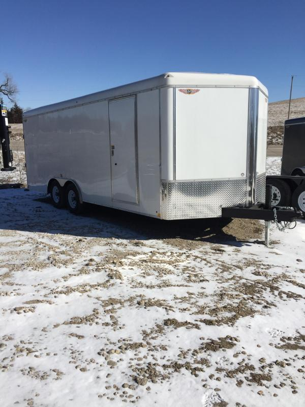 2019 H and H Trailer 101X20 TANDEM RND TOP CA VNOSE CARGO
