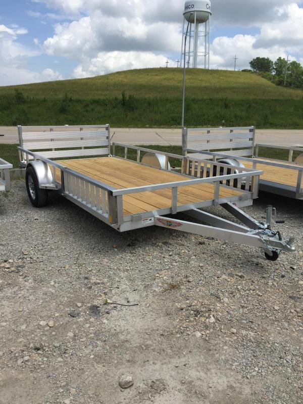 2019 H and H Trailer 8.5(82)X14 RAILSIDE ALUM ATV 3K