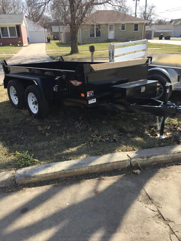 2019 H and H Trailer 62 X 10 UTILITY DUMP 15IN SW 7K BRAKE