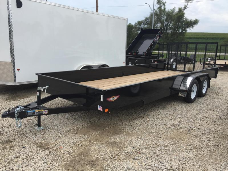 2019 H and H Trailer 8.5X20 STEEL SOLID SIDE TANDEM 7K