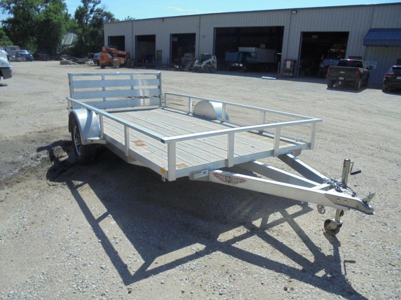 2017 H and H Trailer 8x12 Rail Side Aluminum Utility Trailer