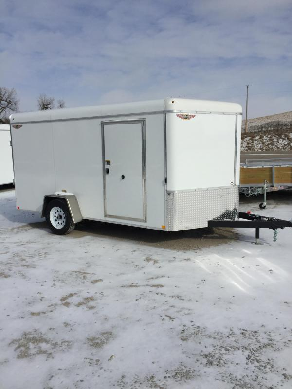 2019 H and H Trailer 7X12 SINGLE RND TOP CA VNOSE 3.5K CARGO