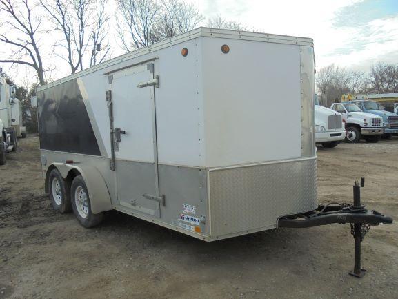 2008 United Trailers 7X14 CARGO Enclosed Cargo Trailer