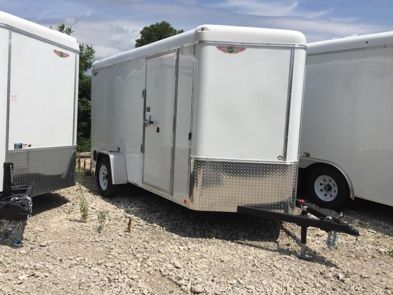2020 H and H Trailer 6X12 SINGLE RND TOP HH V-NOSE 3.5K CARGO