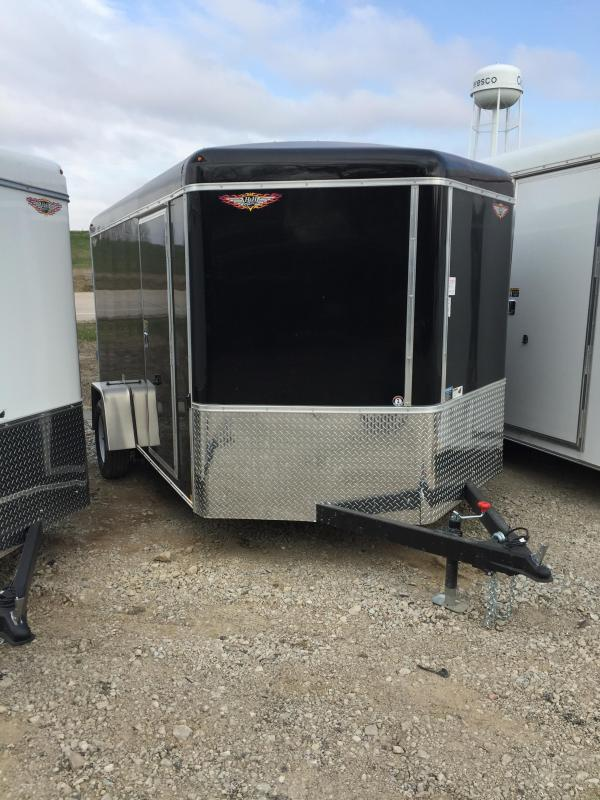2019 H and H Trailer 7X12 SINGLE RND TOP HH V-NOSE 3.5K CARGO