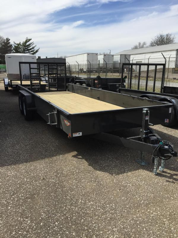 2019 H and H Trailer 82X20 STEEL SOLID SIDE TANDEM 10K