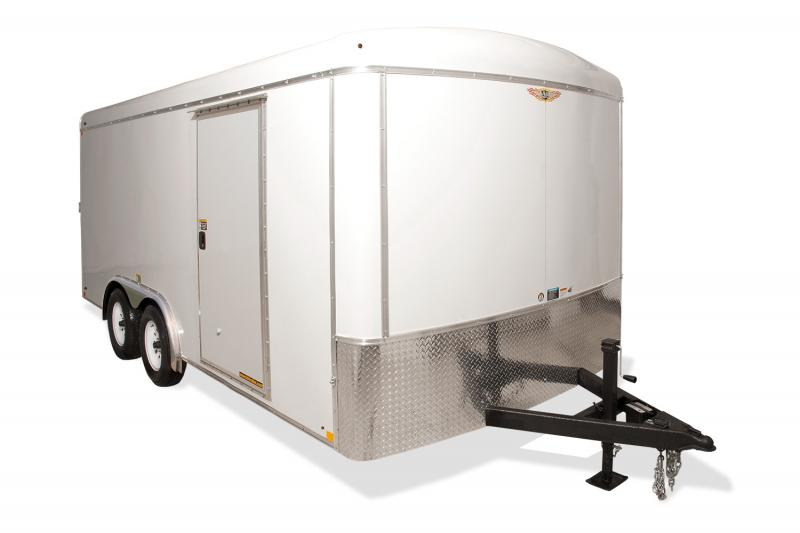 2019 H and H Trailer 8X18 TANDEM RND TOP HH VNOSE 7K CARGO