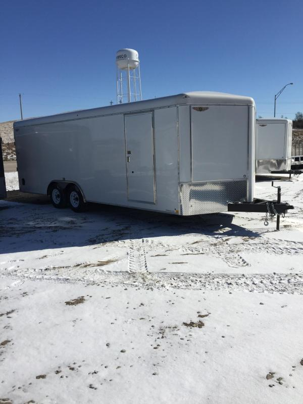 2019 H and H Trailer 101X22 TANDEM RND TOP CA VNOSE CARGO