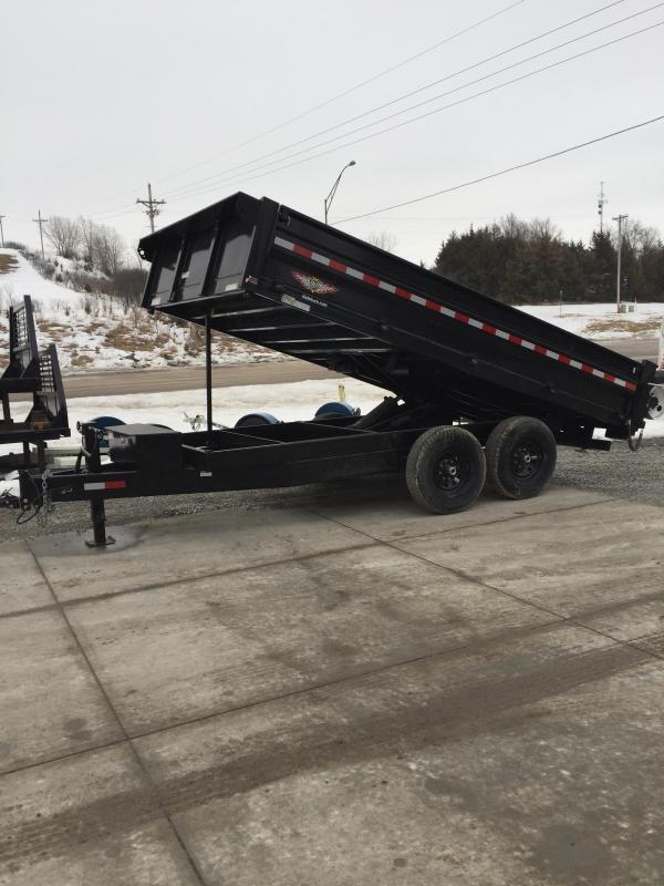 2018 Sure-Trac 96x14 HD Deckover Dump w/Fold-Down Sides Dump Trailer
