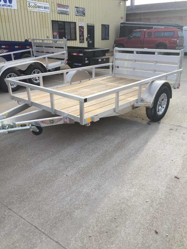 2019 H and H Trailer 8(76)X10 RAILSIDE ALUM 3K
