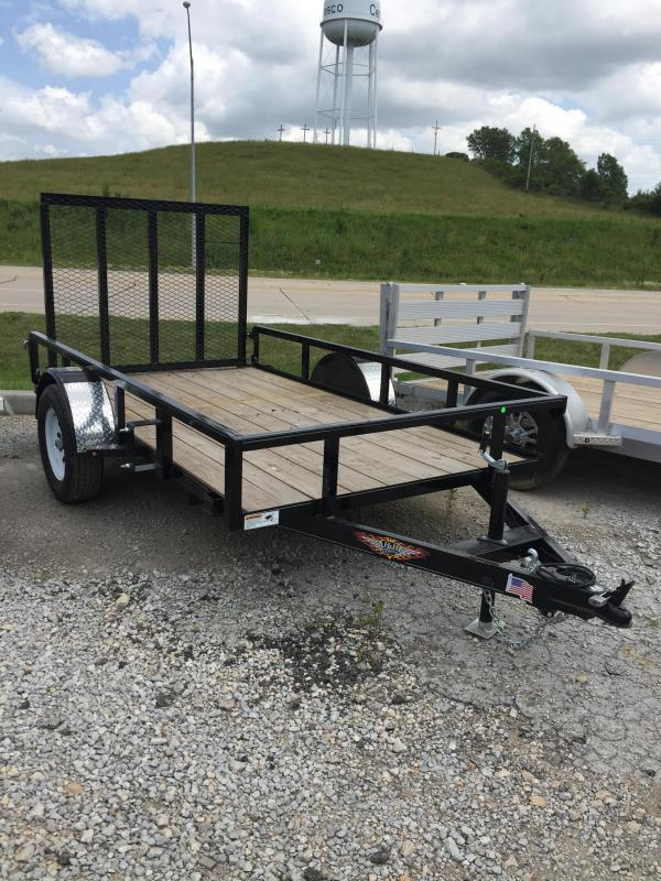 2019 H and H Trailer 66X10 STEEL RAIL SIDE 3.5K