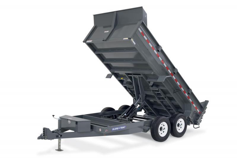 2019 Sure-Trac 82x12 12K HD Low Profile Dump (Scissor Hoist) Dump Trailer