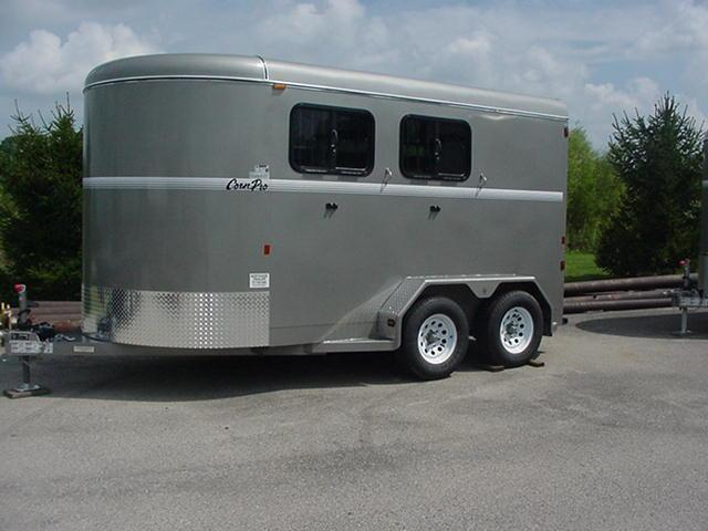"CornPro 2H Slant Enclosed Horse Trailer 14' x 6'8"" x7' tall"