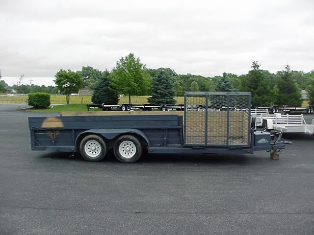 "2006 Moritz 75"" x18' Utility with 30"" High 2X6 Wood Sides"