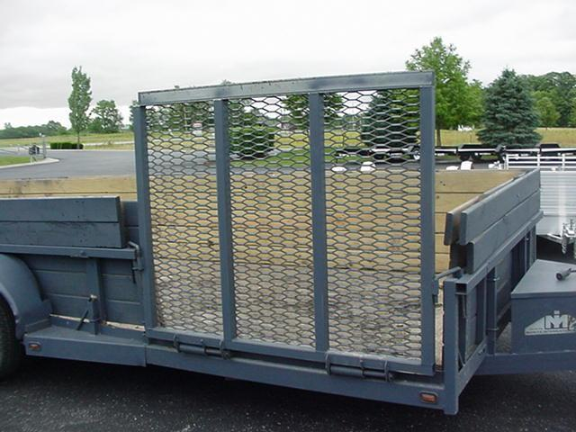 """2006 Moritz 75"""" x18' Utility with 30"""" High 2X6 Wood Sides"""