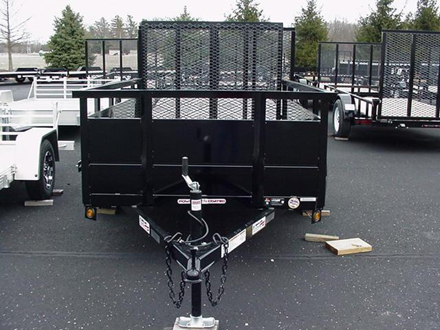 "Liberty  5x8 SA Angle Frame w/30"" Solid Steel Sides/Angle Rail/HD Spring Assisted Mesh Ramp"