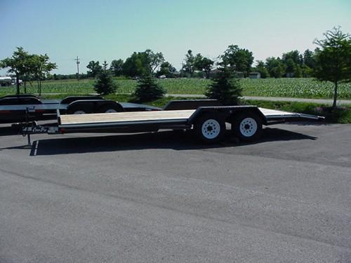 "CornPro 81""x 20'6"" 10K Carhauler w/ Self Storing Ramps"